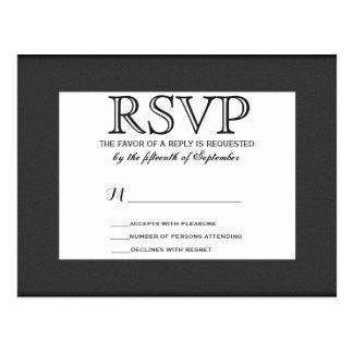 Simple Elegant Black and White Design Postcard