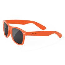 Simple Elegant Black Personalized Name Custom Sunglasses