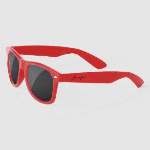 ecb09d42d223 Simple Elegant Black Personalized Name Custom Sunglasses