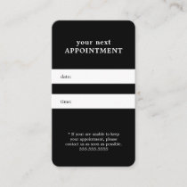 Simple Elegant Black White Beauty Appointment