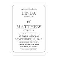Simple Elegant Black & White Wedding Invitation