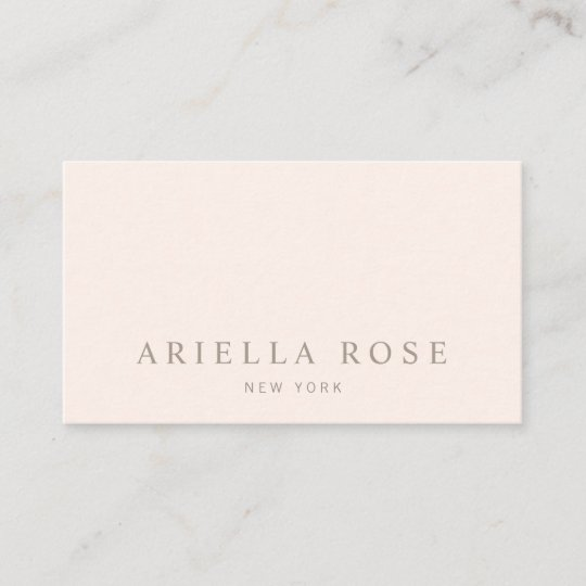 Simple elegant blush pink professional minimalist business card simple elegant blush pink professional minimalist business card reheart Images