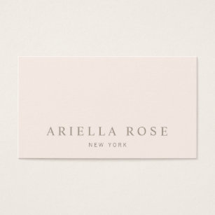Pink business cards templates zazzle simple elegant blush pink professional minimalist business card reheart Image collections