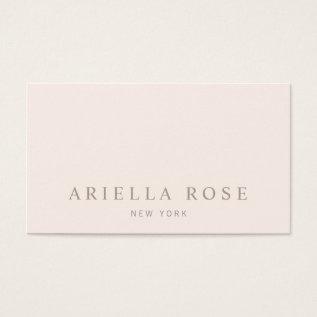 Simple Elegant Blush Pink Professional Minimalist Business Card at Zazzle