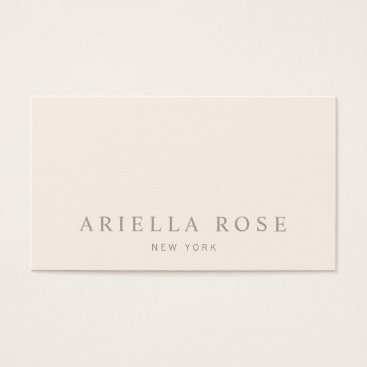 sm_business_cards Simple Elegant Blush Pink Professional Minimalist Business Card