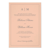 Simple Elegant Blush Pink Wedding Invitation