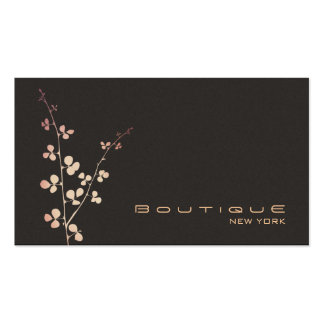 Simple Elegant Boutique Brown Suede Look Business Card