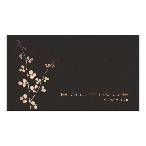 Simple Elegant Boutique Brown Suede Look Business Cards