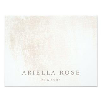 Simple Elegant Brushed White Marble Card
