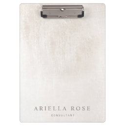Simple Elegant Brushed White Marble Clipboard