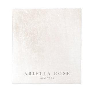 Simple Elegant Brushed White Marble Professiona Notepad