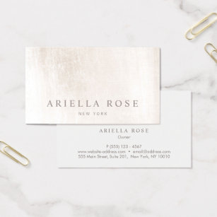 Esthetician business cards templates zazzle simple elegant brushed white marble professional business card colourmoves