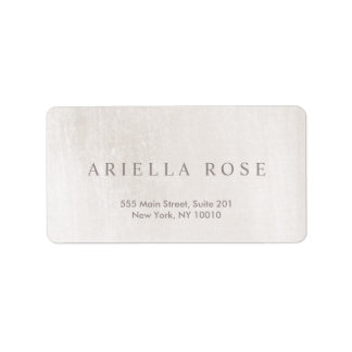 Simple Elegant Brushed White Marble Professional Label