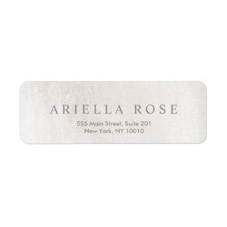 Simple Elegant Brushed White Marble Professional Label