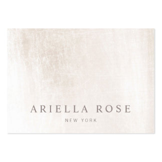 Simple Elegant Brushed White Marble Professional Large Business Card