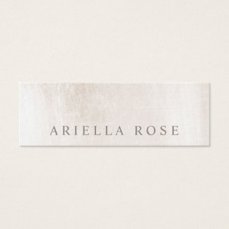 Simple Elegant Brushed White Marble Professional Mini Business Card
