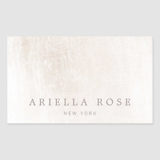 Simple Elegant Brushed White Marble Professional Rectangular Sticker