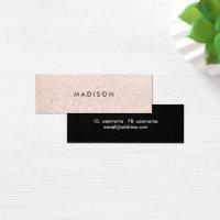 Cosmetologist business cards 5000 cosmetologist business card magnetic business cards simple elegant champagne glitter beauty stylist colourmoves