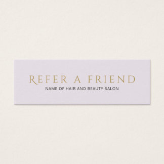 Simple Elegant Clean Faux Gold Referral Card