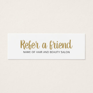 Cleaning business cards templates zazzle simple elegant clean faux gold white referral card reheart Gallery