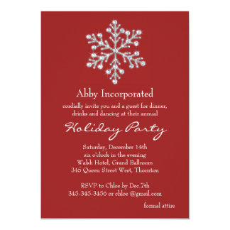 Simple & Elegant Corporate Holiday Party - red Card