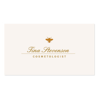 Simple Elegant Cosmetology Spa and Salon Bee Business Card