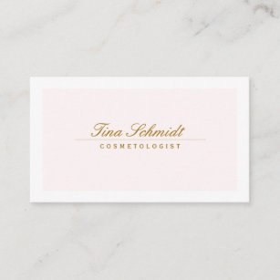 Cosmetology business cards zazzle simple elegant cosmetology spa and salon pink 2 business card colourmoves