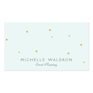 Simple Elegant Cute Stars Event Planner Light Aqua Double-Sided Standard Business Cards (Pack Of 100)