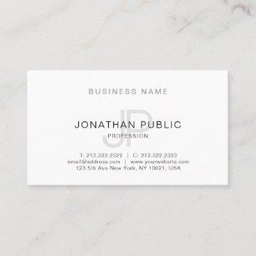 Simple Elegant Design Monogram Trendy Template Business Card
