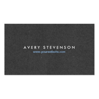 Simple Elegant Entrepreneur Gray Texture Look Double-Sided Standard Business Cards (Pack Of 100)