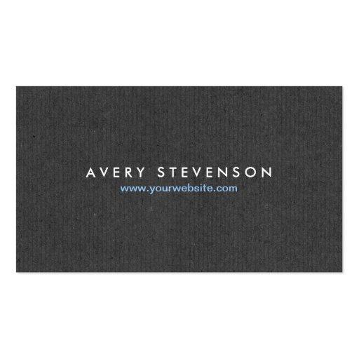 Simple Elegant Entrepreneur Gray Texture Look Business Card Templates