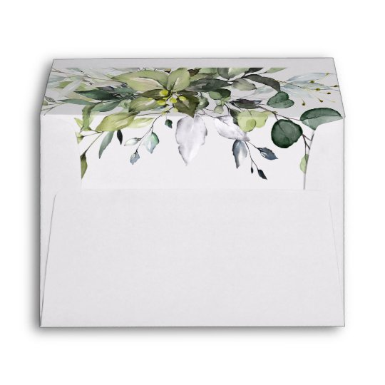 Simple Elegant Eucalyptus for 5x7 card Envelope