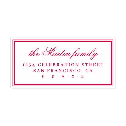 Simple Elegant Family Name Return Address Self_inking Stamp