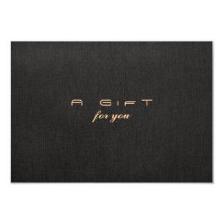 Simple Elegant Faux Linen Gift Certificate Card