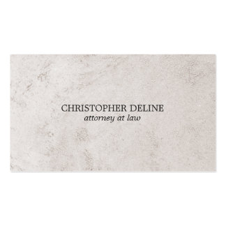 Simple Elegant Faux Stone Texture Attorney at Law Business Card