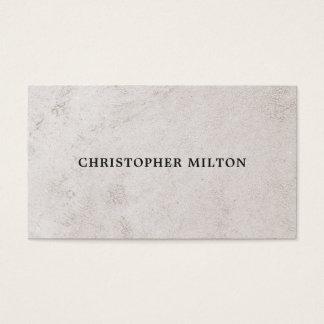 Simple Elegant Faux Stone Texture Consultant Business Card