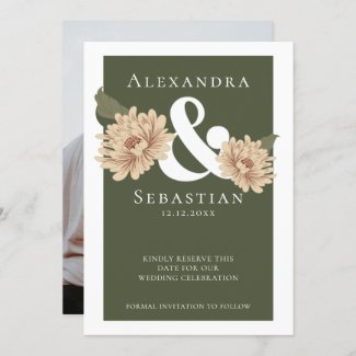 Simple Elegant Floral Wedding Save The Date