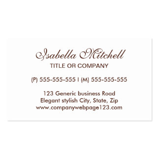 Simple elegant generic business or profile card Double-Sided standard business cards (Pack of 100)