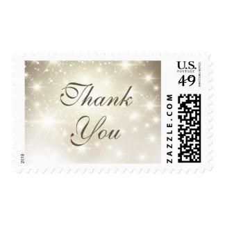 Simple Elegant Glitter Sparkles - Thank You Stamp