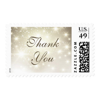Simple Elegant Glitter Sparkles - Thank You Stamp