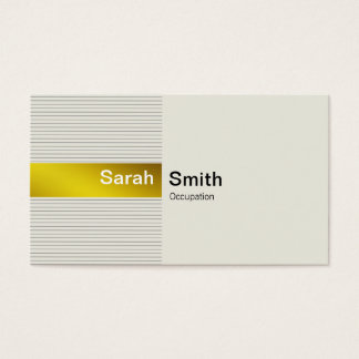 Simple Elegant Gold Business Card