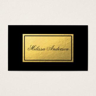 Simple & Elegant Gold Foil Black Business Card