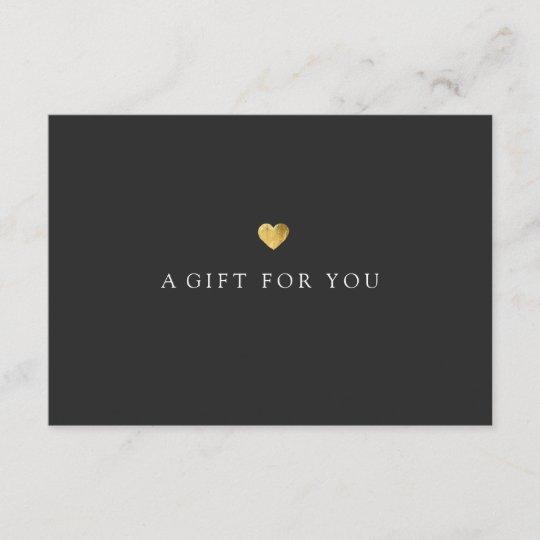 simple elegant gold heart gift certificate zazzle com