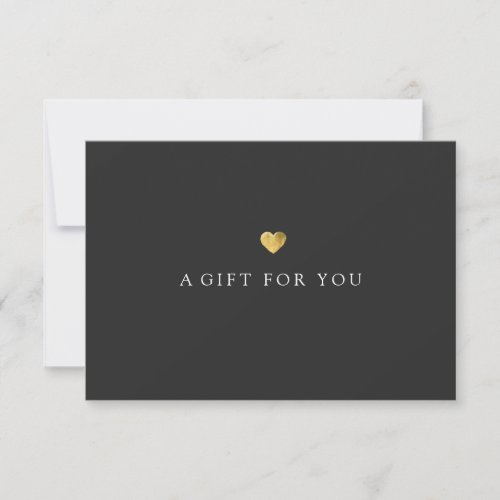 Simple Elegant Gold Heart Gift Certificate