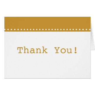 Simple Elegant Gold Thank You Card