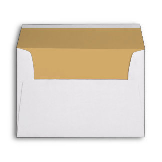 Simple Elegant Golden Yellow Lined Wedding Envelope