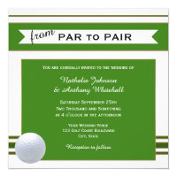 Simple Elegant Golf Theme Wedding Invitation