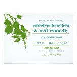 Simple Elegant Green Leaves Rehearsal Dinner Card Custom Announcement