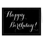 "[ Thumbnail: Simple, Elegant ""Happy Birthday!"" Birthday Card ]"