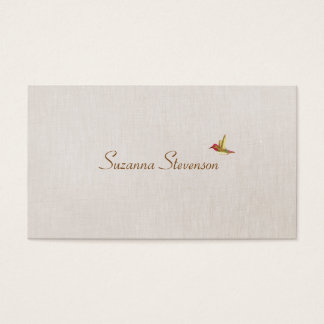Simple Elegant Hummingbird Nature Business Card